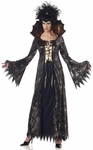 Adult Gold & Black Spider Witch Costume