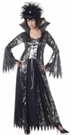 Adult Silver & Black Spider Witch Costume