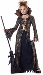 Child's Gold & Black Spider Witch Costume
