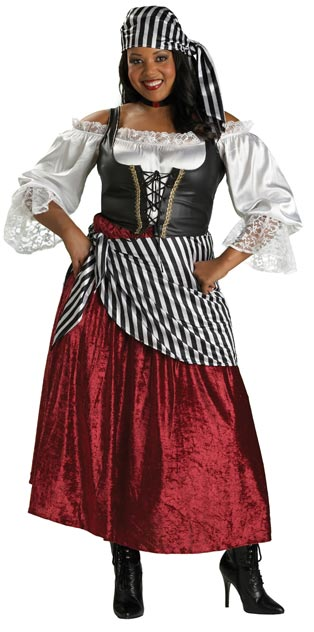 Adult Plus Pirate's Wench Costume