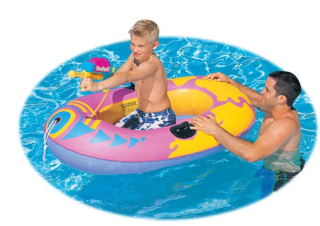 Kid's Inflatable Boat W/ Squirt Gun