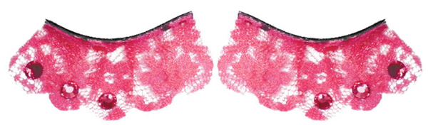 Pink Lace Fake Eyelashes