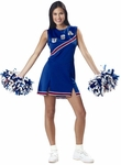 Adult Blue & White USA Cheerleader Costume