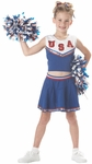 Child's Blue Patriotic Cheerleader Costume