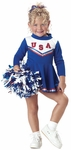 Toddler Blue Cheerleader Costume
