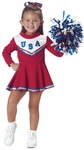 Toddler Red Cheerleader Costume