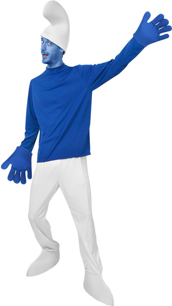 Adult 80s Blue Troll Costume