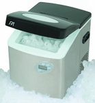 Portable Ice Maker with Stainless Housing, LCD & Self-Clean Function