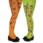 Child's Flower Print Tights