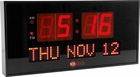 LED Calendar Wall Clock