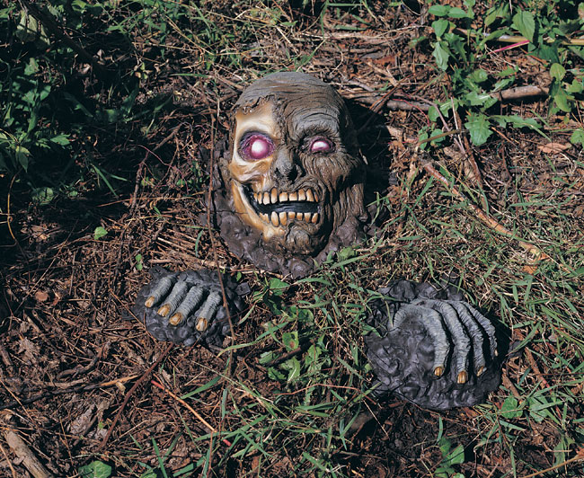 halloween cemetery decorations partially buried skeleton graveyard prop - Cemetery Halloween Decorations