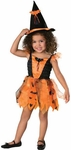 Toddler Orange Bat Witch Costume