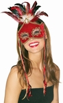 Red Bird Of Paradise Venetian Mask