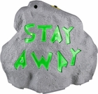 Stay Away Halloween Rock Prop