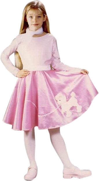 Girl's 50s Poodle Skirt Costume