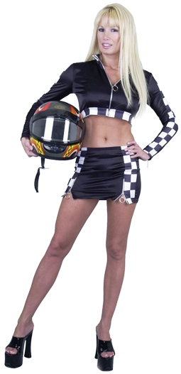 Triple Zip Sexy Racer Costume