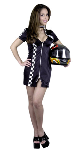 Double Zip Sexy Racer Costume