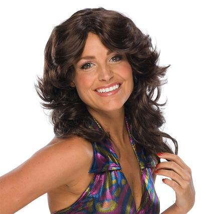 Brown 70s Glam Wig