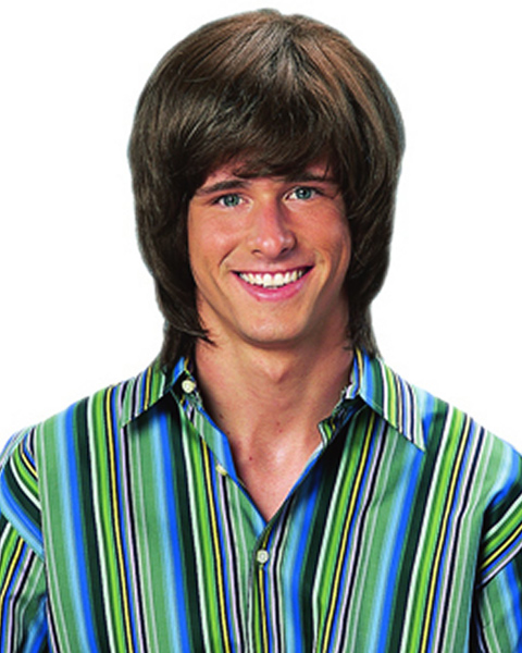 Shaggy Brown 70s Wig