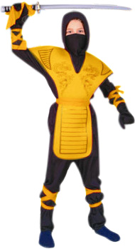 Child's Yellow Mortal Kombat Costume