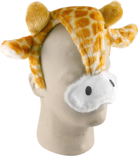 Child's Giraffe Headband with Ears and Nose