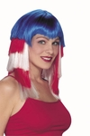 Red, White & Blue Stepped Wig