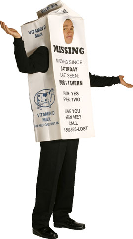 Giant Milk Carton Costume