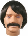 Sonny Bono Costume Wig and Mustache Set