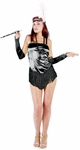 Sexy Black 20s Fringe Flapper Dress Costume