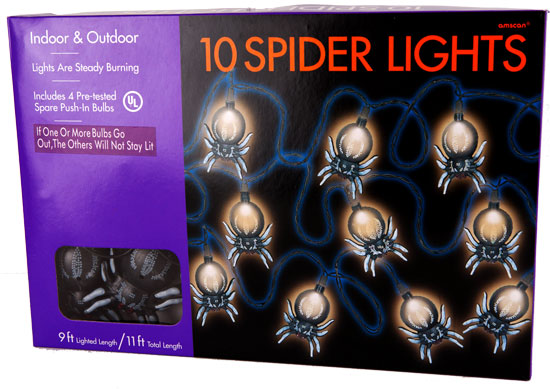 Black Spider String Lights 14FT