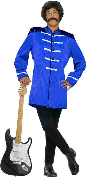 Adult Blue Sgt Pepper Beatles Costume Jacket