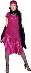 Adult Fushia Roaring 20s Costume Dress