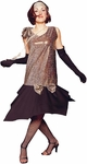 Adult Gold Roaring 20s Costume Dress