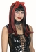Red & Black Gothic Wig