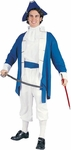 Adult Blue Colonial Captain Costume