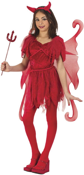 Child's Red Devil Fairy Costume