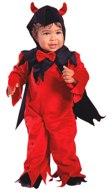 Toddler Fuzzy Devil Costume