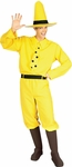 Adult Man in the Yellow Hat Costume