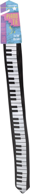80s Piano Key Neck Tie
