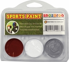 Burgundy, White, Grey Face Paint Kit for Sports Fans