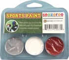 Grey, White, Red Face Paint Kit for Sports Fans
