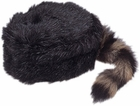Coonskin Cap w/ Real Tail