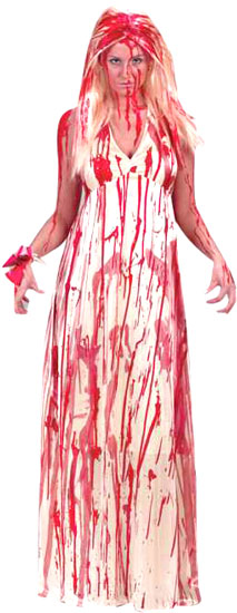 Adult Bloody Prom Dress Costume