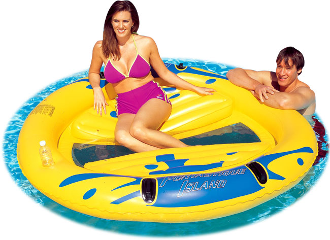 Large Inflatable Floating Pool Island