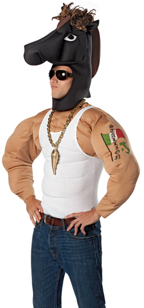 Adult Italian Stallion Costume Muscle Man Costumes