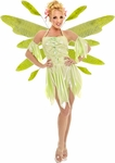 Green Nymph Fairy Dress w/ Wings Costume