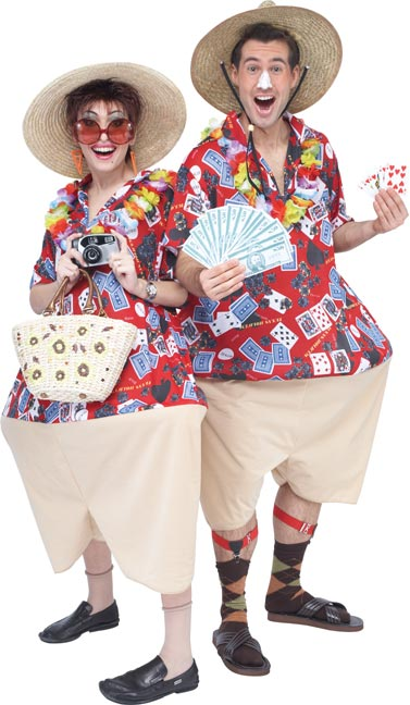 Adult Vegas Vacation Costume Funny Tourist Costumes