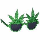Glitter Pot Leaf Glasses
