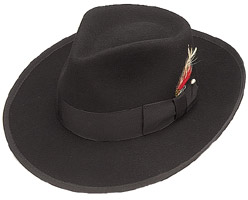 Wool Felt Wide Brim Fedora Hat