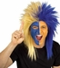 Sports Fan Blue and Gold Wig